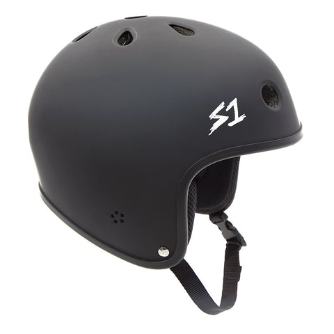 S-One Retro Lifer Helmet - Matte Black For Sale Back Bone BMX Australia