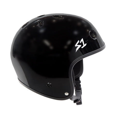 S-One Retro Lifer Helmet - Gloss Black For Sale Back Bone BMX Australia