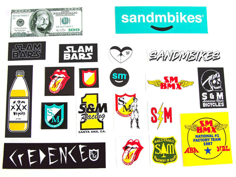 S&M Bikes Sticker Kit - 20 Pack
