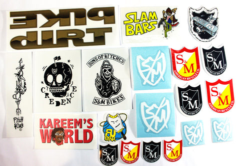 S&M Bikes Assorted Sticker Kit - 20 Pack