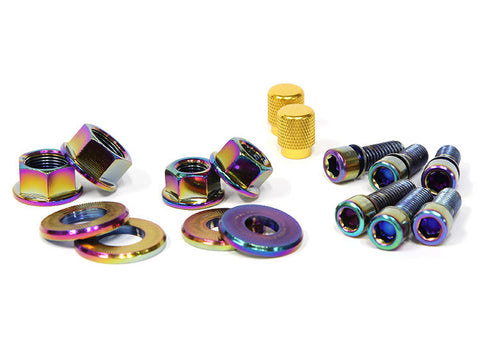 Salt BMX Nut & Bolt Kit - Oil Slick For Sale Back Bone BMX Australia