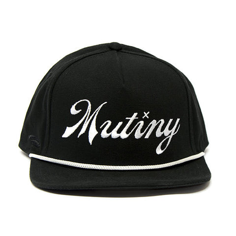 Mutiny Second String 5 Panel Cap - Black