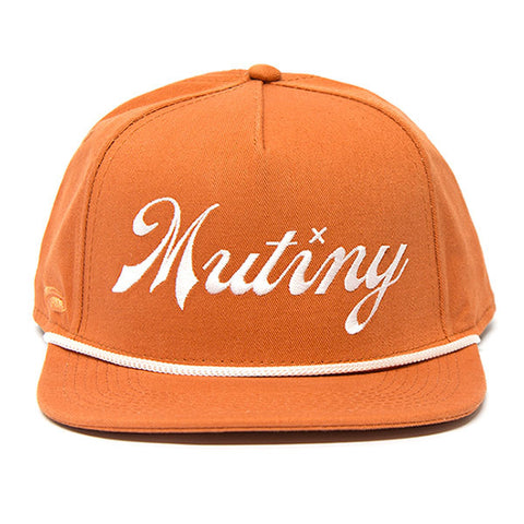 Mutiny Second String 5 Panel Cap - Burnt Orange For Sale Back Bone BMX Australia