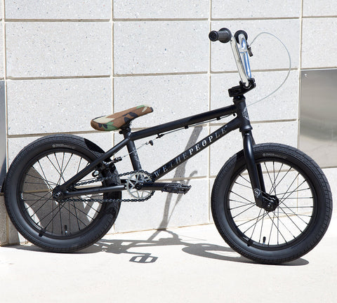 "Wethepeople Seed 16"" 2018 BMX Bike - Matte Black For Sale Back Bone BMX Australia"