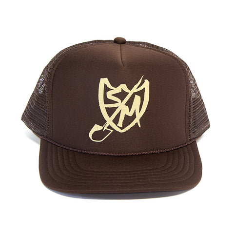 S&M Shovel Shield Trucker Hat - Brown For Sale Back Bone BMX Australia