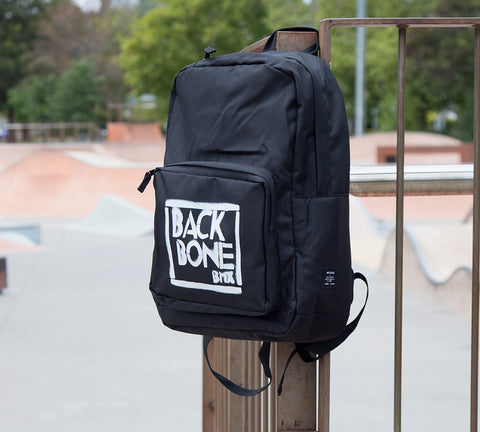 Back Bone BMX Stencil Backpack - Back Bone BMX Shop Australia