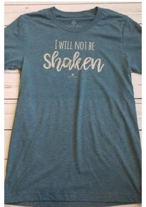 "New Bell and May Tees - ""I Will Not Be Shaken"""