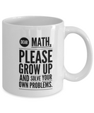 No maths white coffee mug - Noneend Outlet