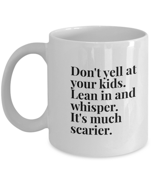 Lean in white ceramic mug - Noneend Outlet