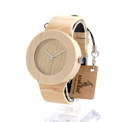 BOBO BIRD Cylinder Wooden Case Wristwatch - Noneend Outlet