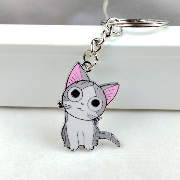 Hot fashion cute cat key chain ring - Noneend Outlet