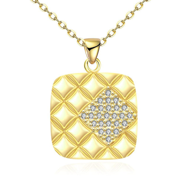 Gold Plated Square Necklace - Noneend Outlet