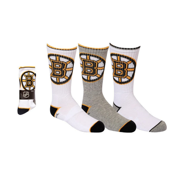 Boston Bruins Youth Crew Socks | x 3 - Noneend Outlet