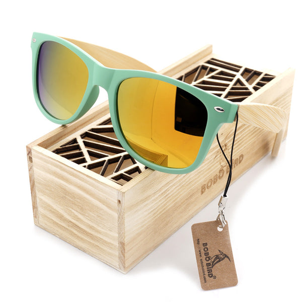Wood Bamboo Sunglasses - Noneend Outlet