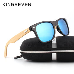Polarized  Men Wooden Sun glasses - Noneend Outlet
