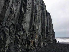 The basalt columns at Vik and black sand beach