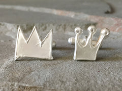 Custom made crown cufflinks