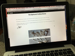 Working on my website