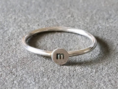 Initial Stacking Ring | Silver Sculptor