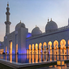 The Sheikh Zayed Grand Mosque, Abu Dhabi, United Arab Emirates | Silver Sculptor