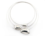 Sterling Silver Small Pebble Choker Necklace | Silver Sculptor