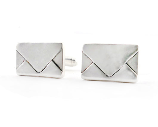 Sterling Silver Love Letter Envelope Cufflinks | Silver Sculptor