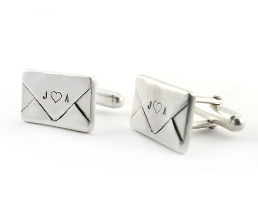 Personalized Envelope Cuff Links | Silver Sculptor