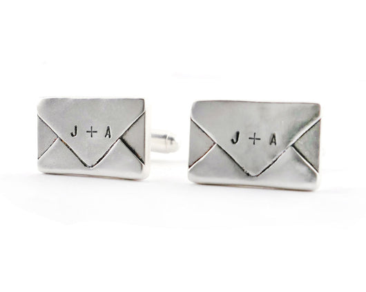 Custom Sterling Silver Envelope Cufflinks | Silver Sculptor