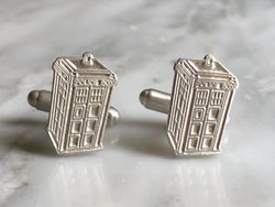 Doctor Who Tardis Cufflinks | Silver Sculptor
