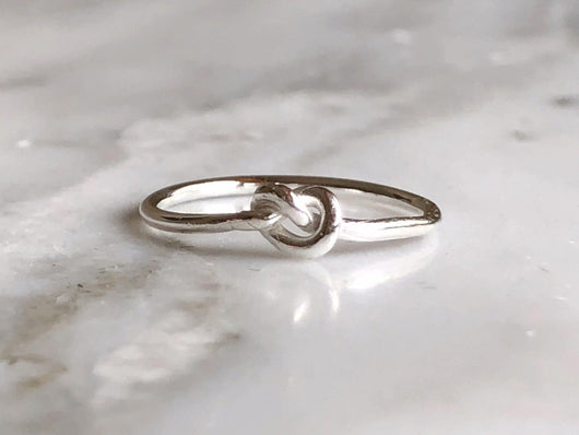 Knot Stacking Ring | Silver Sculptor