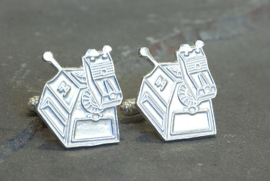 Doctor Who K9 Cufflinks | Silver Sculptor
