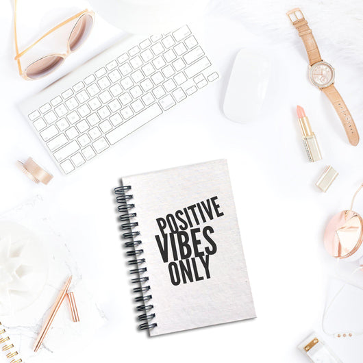 Positive Vibes Only Notebook | Silver Sculptor