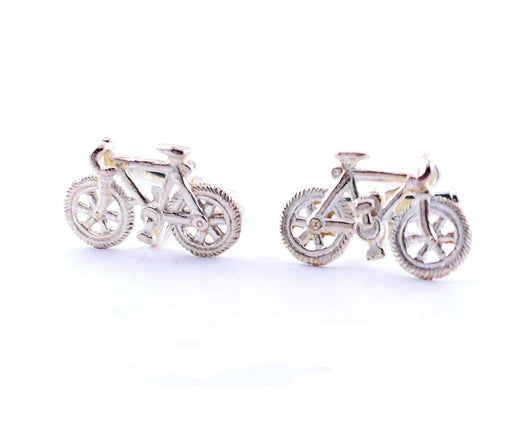 Sterling Silver Bicycle Cufflinks | Silver Sculptor
