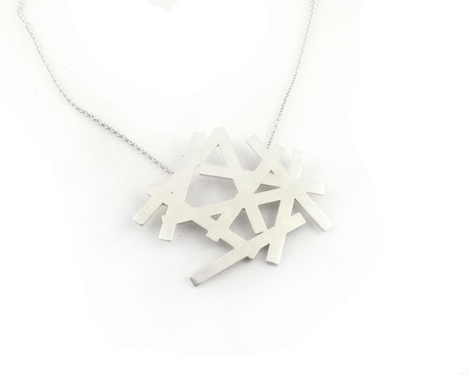 Sterling Silver Snowflake Necklace | Silver Sculptor