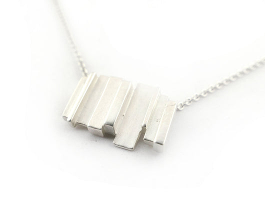 Sterling Silver Abstract Necklace | Silver Sculptor