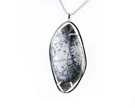 Dendritic Opal Necklace | Silver Sculptor