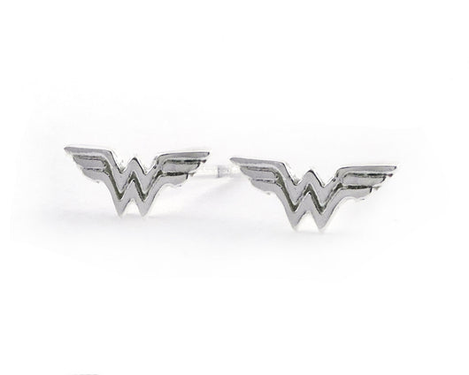 Sterling Silver Wonder Woman Earrings | Silver Sculptor