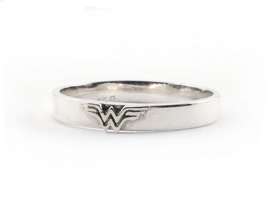 Sterling Silver Wonder Woman Band | Silver Sculptor