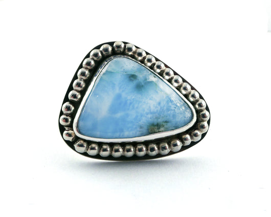 Larimar Statement Ring in Sterling Silver