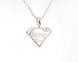 Sterling Silver Supergirl Necklace | Silver Sculptor