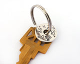 Personalized Longitude and Latitude Keychain | Silver Sculptor
