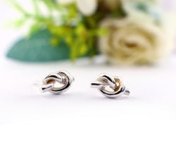 Love Knot Stud Earrings | Silver Sculptor