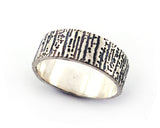 Wide Sterling Silver Tree Bark Ring | Silver Sculptor Jewelry