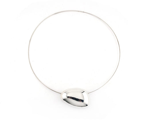 Sterling Silver Pebble Choker Necklace