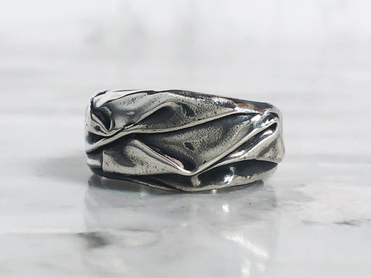 Silver Draped Ring | Silver Sculptor