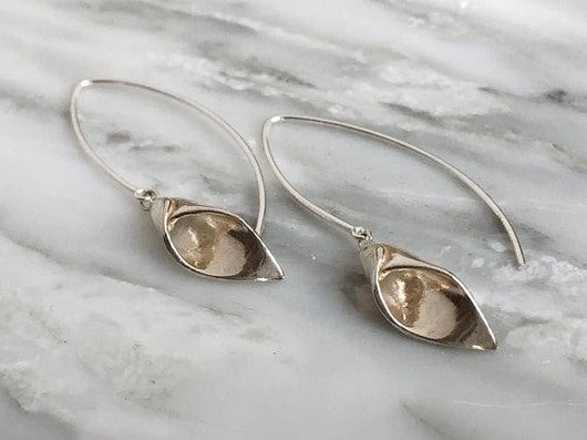 Calla Lily Earrings | Silver Sculptor
