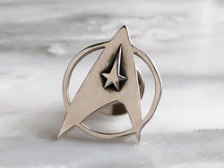 Sterling Silver Star Trek Lapel Pin | Silver Sculptor