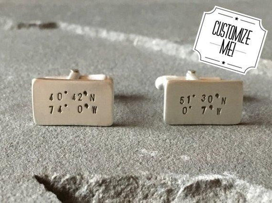 Long Distance Relationship Cufflinks | Silver Sculptor
