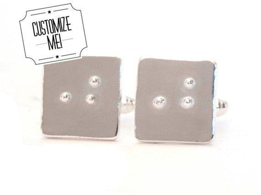 Custom Braille Cufflinks | Silver Sculptor