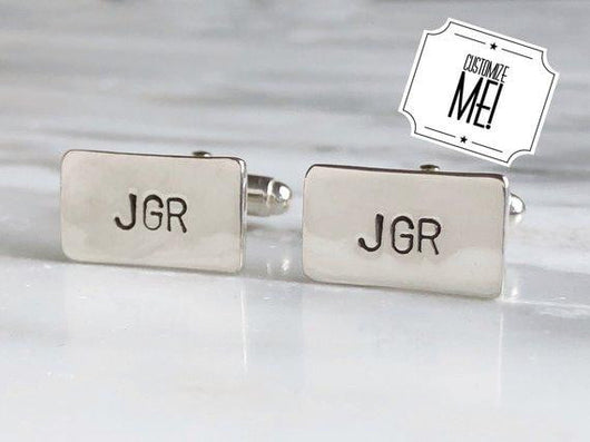 Personalized Initial Monogrammed Cufflinks | Silver Sculptor